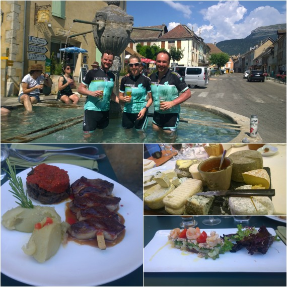 Tour de France 2015 Tour 1 - Topbike Riders enjoying the food of France