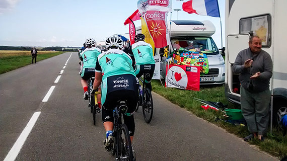 Tour de France 2015 Tour 1 - Topbike Riders enjoying cycling the roads of France
