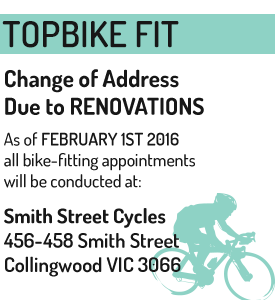 Topbike Fit - Topbike Physio - Now at Smith Street Cycles due to Renovations
