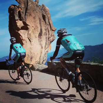 Around the ragged rocks the ragged rascals rode.  David Scully and Vincent Duffus - Tour of Corsica.