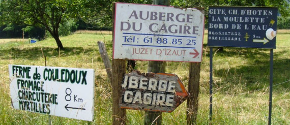 Road Signs in the Pyrenees - TDF 2012